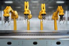 Industrieller Roboterarm Stockbild