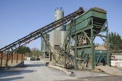 Industrieller Sand- und Klebermischer Stockfoto