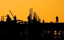 Industrieller Sonnenuntergang Stockfotos