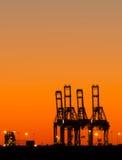Industrieller Sonnenuntergang lizenzfreie stockbilder