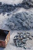 Industrieller Stahl Stockbild