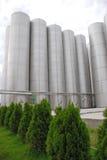 Industrieller Stahlbunker Stockfotografie