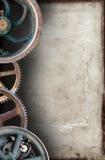 Industrieller Steampunk-Maschinen-Papier-Hintergrund Stockfotos