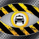 Industrieller Taxihintergrund mit Schmutz und metallischen Elementen Lizenzfreies Stockfoto