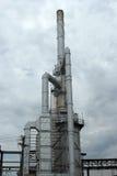 Industrieller Triebwerkanlagekontrollturm stockbilder