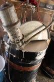 Industrieller Trommel-Mischer Stockfotografie