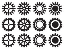 Industrieller Zahnrad-Vektor-Ikonen-Satz Lizenzfreies Stockbild