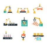 Industrielles automatisiertes Fließband Stockbild