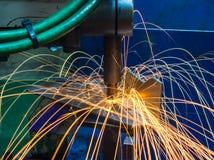 Industrielles, Automobilpunktschweissen Stockfotos