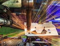 Industrielles, Automobilpunktschweissen Stockfoto
