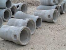 Industrielles Betonrohr für Hochbau Stockfotografie