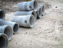 Industrielles Betonrohr für Hochbau Stockfotos
