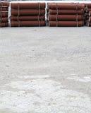 Industrielles Betonrohr für Hochbau Lizenzfreies Stockbild