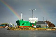 Industrielles Dock Lizenzfreies Stockfoto