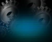 Industrielles Hintergrundblau Stockfoto