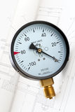 Industrielles Manometer stockbilder