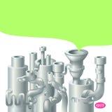 Industrielles Metallrohr-Stapeldesign, Thema von Lizenzfreies Stockfoto