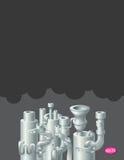 Industrielles Metallrohr-Stapeldesign, Thema von Stockfotografie