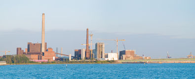 Industrielles Panorama Stockfoto