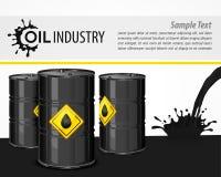 Industrielles Plakat des schwarzen Öls vektor abbildung