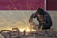 Industrielles Schweißen Stockfotografie