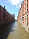 Industrielles Speicherstadt Stockfotografie