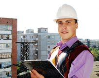 Industrielles Thema: Architekt. stockbilder