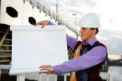 Industrielles Thema: Architekt. lizenzfreies stockbild