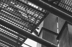 Industrielles Treppenhaus Nahaufnahme Addieren Sie grauen Tönungseffekt Lizenzfreie Stockfotografie
