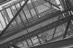 Industrielles Treppenhaus Nahaufnahme Addieren Sie grauen Tönungseffekt Lizenzfreies Stockbild