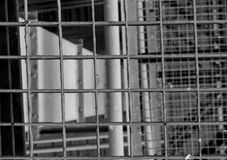 Industrielles Treppenhaus Nahaufnahme Addieren Sie grauen Tönungseffekt Lizenzfreie Stockbilder