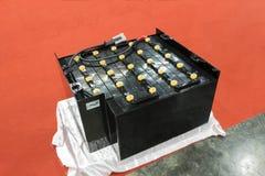 Industriellt batteri för gaffeltruck royaltyfria foton