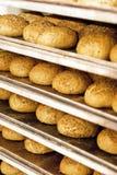 Industriellt brödbageri arkivfoto