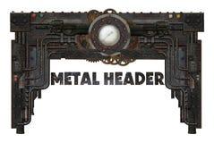 Belägga med metall fram arkivbild