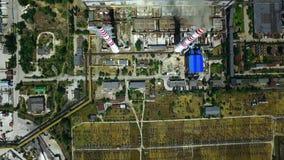 Industriellt fabriksproduktionområde Zon för tung bransch för flyg- sikt stock video
