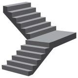 Industriellt flyg av trappa stock illustrationer