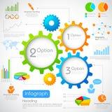Industriellt Infographics diagram Royaltyfri Foto