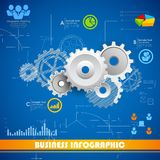 Industriellt Infographics diagram Arkivfoton