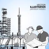 Industriellt iscensätter vektor illustrationer