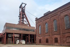 Industriellt komplex för Zeche Zollverein kolgruva Arkivbild