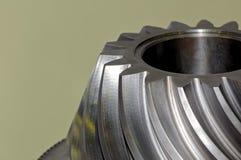 Industriellt koniskt kugghjul, kugghjul royaltyfri fotografi
