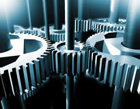 industriellt kugghjul vektor illustrationer