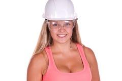 industriellt kvinnaarbetarbarn Fotografering för Bildbyråer