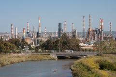 Industriellt landskap Fotografering för Bildbyråer