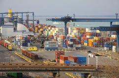Industriellt landskap av den Odesa hamnstaden, Ukraina Arkivbilder