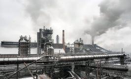 Industriellt landskap av metallurgical industriellt Fotografering för Bildbyråer