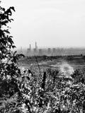 Industriellt landskap för stolpe Royaltyfri Foto
