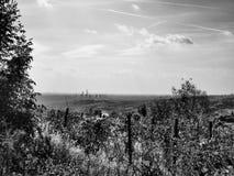 Industriellt landskap för stolpe Fotografering för Bildbyråer
