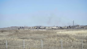 Industriellt landskap i Kasakhstan arkivfilmer