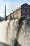 Industriellt landskap Norrkoping för gammal fabrik Royaltyfri Bild